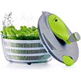 Kalokelvin 1456 4 litres Plastic Salad Spinner Dryer, Easily Spin to Wash and Dry Vegetables