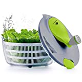 Best Salad Spinners - Kilokelvin Salad Spinner, 4 litres Plastic Salad Spinner Review