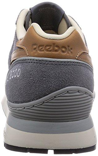 Reebok Classic GL 6000 Homme Baskets / Sneakers, Gris Gris - Grau (Shark/Baseball Grey/Paperwhite/Black)