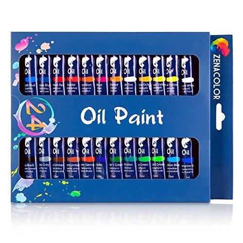 Set 24 tubos pintura óleo Zenacolor - Pack 24 x 12mL
