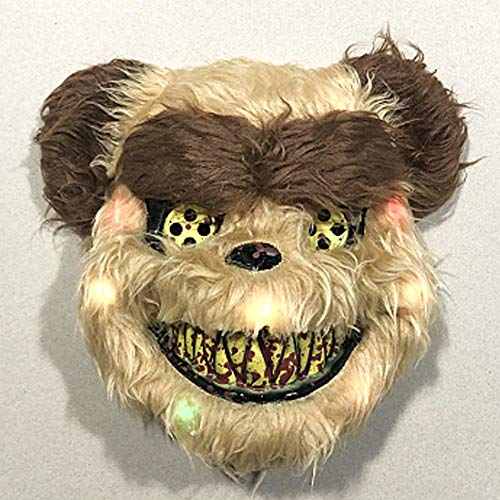 Leuchtende Wolf Kostüm Der - Basisago Leuchtende Bären Maske Natürlich Umweltfreundlich Latex Abriebfest Umweltfreundlich Ungiftig, Geeignet Für Maskerade-Partys, Kostümpartys, Karneval, Halloween-Nachtclub