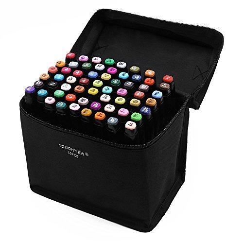 Touch Five 60er Pack Farbe Grafik Design Marker Set Schreibwaren Büromaterial Filzstifte neue Generation