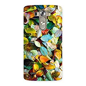 Impressive Colorfull Leafs Back Case Cover for LG G3