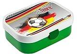 Mein Zwergenland Brotdose Mepal Campus mit Bento Box und Gabel mit eigenem Namen Grün, Fußball