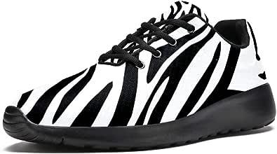 Lorvies - Scarpe sportive da uomo con stampa zebrata, casual