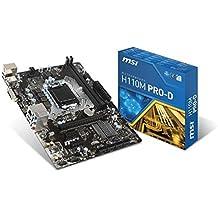 MSI H110M PRO-D Intel H110 LGA 1151 (Socket H4) Micro ATX - Placa base (DDR4-SDRAM, DIMM, 2133 MHz, Dual, 16GB, 32 GB)