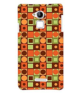 Printvisa Premium Back Cover Orange Square And Circular Pattern Design For Coolpad Note 3