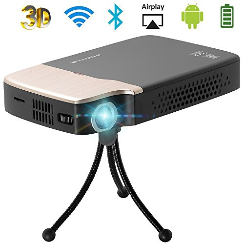 Ps3-spiel-karten 20 (Beamer DLP HD Android 5.1 WIFI Bluetooth Mini Projektor Video Heimkino unterstützt 1080p kontrast 5000:1 HDMI USB Audio TF-Karte für Laptop PC Smartphone iPad)
