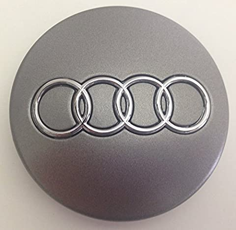 AUDI Silver Centre Caps Hub Cover Badges Emblem 4pcs. x 60mm- By GooDealShop