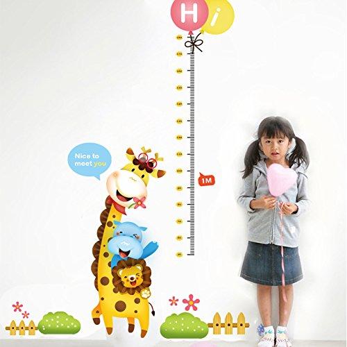LQRRHY Die Giraffe Little Lion Kinder Höhe Die Kindergärtnerin Hintergrund Ideen können die Wandaufkleber entfernen