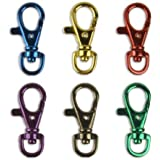 6 Bright Colors Aluminum Lobster Claw Snap Hook Set 1-1/2 by ProTool