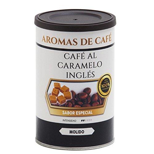 Aromas de Café - Café Tostado de Caramelo Inglés 100% Arábica Molido/Café Molido Tostado Sabor Caramelo Inglés Intensidad Suave e Intenso, 100 gr