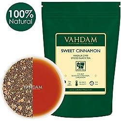 VAHDAM, Zimt Tee Masala Chai (100 Tassen) | Tee Lose | Schwarzer Tee, Zimt | Gemischt & Gekocht aus Indien Geliefert | Brauen als Heißen Tee, Eistee oder Chai Latte | 100g Chai Tee Beutel (Packung von 2)