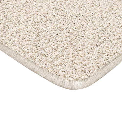Floori Shaggy Hochflor Teppich - 100x150cm - moderner Wohnzimmerteppich - Creme -