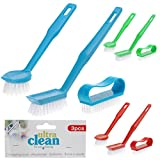 KITCHEN DISHWASHER SINK WASHING BRUSH SET UTILITY WASHER CLEANING SCRUBBING