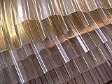 PVC - Lichtplatte Profil 70/18 Trapez - transparent (klar) Stärke 1,2 mm - Nutzbreite: 1045 mm - Lichtdurchlässigkeit 85% - UV - Licht- und witterungsbeständig - Herstellergarantie: 10 Jahre auf Witterungs- u. Lichtbeständigkeit, Hagelschlag bis 10 mm Körnung - Preis: Euro 8,50 m²