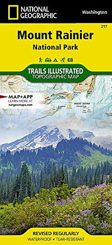 Mount Rainier National Park, WA: National Geographic Trails Illustrated National Parks (National Geographic Trails Illustrated Map, Band 217) (State Map Wa)