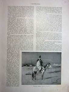 Fauconnier Arabe Avec le Faucon Et le Cheval 1930