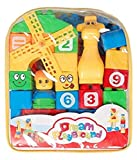 #7: FunBlast™ Learning Blocks For Kids With Cartoon Figures, Bag Packing, Best Gift Toy, Multicolor (Set Of 35 Pcs)