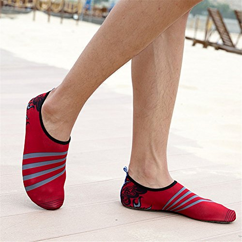 Scarpe Da Bagno Saguaro Scarpe Da Spiaggia Aqua Scarpe Scarpe Da Acqua Scarpe Da Mare Per Donna Uomo Bambini Rosso
