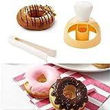 Backform Donuts Donut Formen für Kuchen Biscuit Bagels Muffins Backform Fondant Cake Kunststoff Bäckerei Donut DIY Fried Donut Maker Cutter mit einem Clip