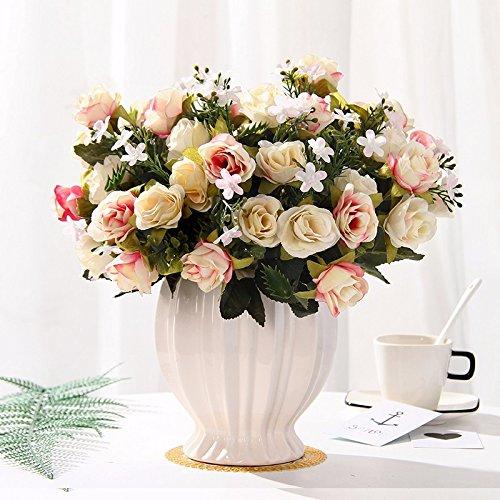 Emulation Blumen rose Seide blumentisch Blumen getrocknete Blumen Dekoration im Wohnzimmer Home Dekoration Pflanzen swing Teil 6