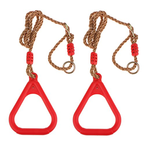 Preisvergleich Produktbild Dreieck Kunststoff Krafttraining Ringe W / Riemen Schnallen Rot Fitness-Tool