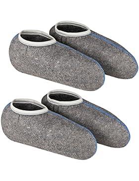 DESERMO 2er Set Stiefelsocken für Gummistiefel, mit Nässeschutz - weiche Rosshaarsocken