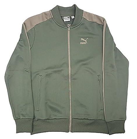 PUMA Men's T7 Bomber Jacket Agave Green/Vintage Khaki