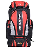 100L Wasserdichter Trekkingrucksack - Unisex Tagesrucksack Wanderrucksack Sportrucksack Outdoor Rucksack, rot, 100L