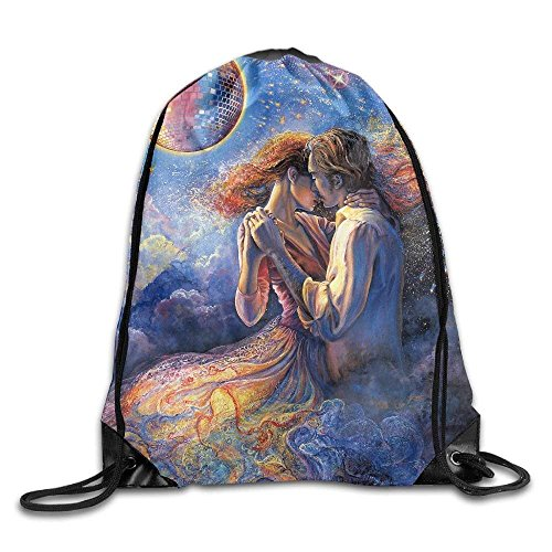 Love In The Air Gym Drawstring Backpack Unisex Portable Sack Bags -