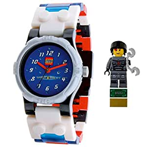 Lego Space Police Boy's Quartz Watch with Blue Dial Analogue Display and Multicolour Plastic or PU Bracelet 9001970