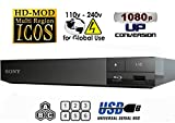 SONY BDP-S1700 Lecteur Multi Zone Region Code Free Blu Ray - DVD - CD Player - PAL/NTSC - Worldwide Voltage 100~240V - 1 USB, 1 HDMI, 1 COAX, 1 ETHERNET Connections + 6 Feet HDMI Cable Included.