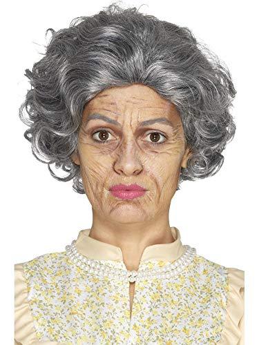 shoperama Professionelles 4-Teiliges Schminkset Oma Opa Make-up Schminke FX Alte Frau Alter Mann Omi Falten Halloween Karneval Fasching
