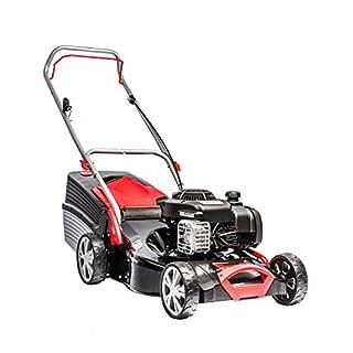 AL-KO Benzin-Rasenmäher Classic 4.65 P-B, 46 cm Schnittbreite, 1.8 kW Motorleistung, für Rasenflächen bis 1.100 m², Schnitthöhe 7-fach zentral verstellbar, robustes Stahlblechgehäus