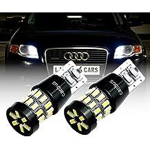 b504a 2x 30x 3014SMD luz de posición W5W T10Canbus LED Xenon Look Park Luz Blanco para AUDI