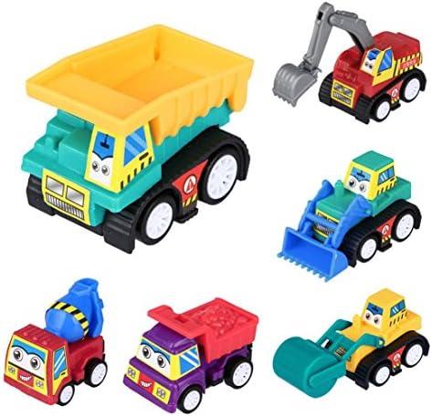 Mamum 6 pcs Bébé Mini ingénierie véhicule jouet, 6 pcs pcs pcs Bébé  s mignon Twist Forward MouveHommes t d'ingénierie de voiture Educational Toys   Matériaux De Grande Qualité  9094cc