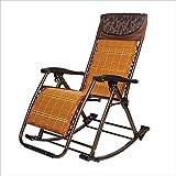 Klappstuhl XIAOYAN Mode Schaukelstuhl Rattan + Edelstahl Lounge Chair (Farbe : 02)