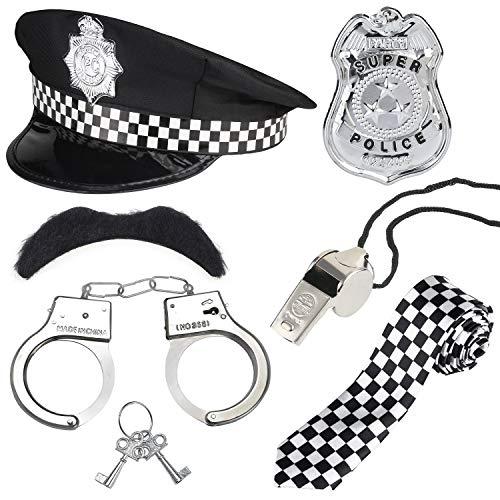Polizist Halloween Zubehör - Beelittle Polizei Kostüm Zubehör Polizei Hut