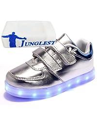 (Present:kleines Handtuch)Gelb EU 25, Sneakers Mädchen mode LED Sportsschuhe Light Fluorescence JUNGLEST