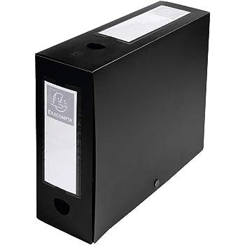 R/ücken 80/mm schwarz Viquel Class Doc Heftbox Polypropylen