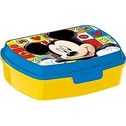 Box Colazione Topolino Icons Mickey Mouse Scatola Spuntino Lunchbox Portamerenda Porta SANDWICH Bambini Scuola