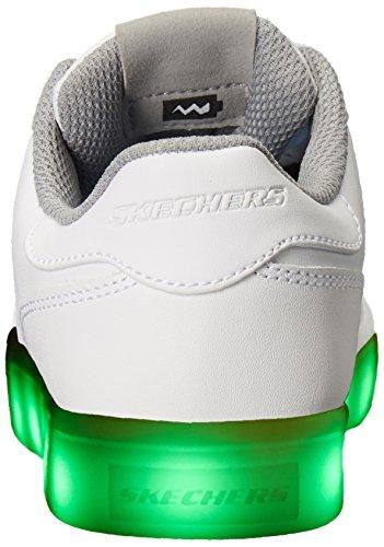 Skechers Energy Lights-Elate, Formateurs Garçon Blanc (White)