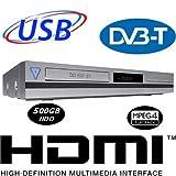 MEDION MD 83500 X70002 HDD Festplatten DL DVD Recorder 500GB HDD DVB-T & TV analog USB HDMI DV AV OTR DTS  Wiedergabe von MP3 WMA JPEG MPEG4 via USB DivX 3,4,5,6