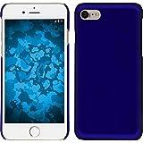 PhoneNatic Case für Apple iPhone 8 Hülle blau gummiert Hard-case für iPhone 8 + 2 Schutzfolien