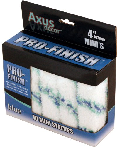 Axus Décor Pro-Finish Mini Roller Sleeve - Blue (Pack of 10)
