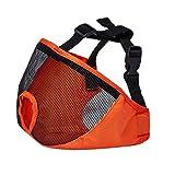 non-brand Sharplace Museruole per Cani Muso Rete Maschera Anti-Morso da Bocca Prop Cosplay - Arancione XL