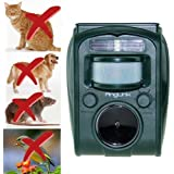 AngLink Répulsif Chat Ultrason Solaire pour éloigner les Animaux Nuisibles de Votre Jardin | Rongeurs Taupes Chats Chiens Oiseaux Foxes et autres