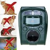 Solar Katzenschreck Ultraschall Tiervertreiber Vogelschreck Wasserdicht Hundeschreck mit LED