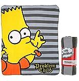 Fleecedecke, Motiv Die Simpsons, 120x140cm